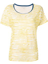 Majestic Filatures Painted Stripe T Shirt Yellow