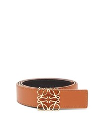 Loewe Anagram Logo Leather Belt Tan