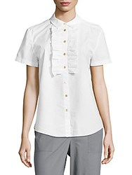 Marc By Marc Jacobs Cotton Button Down Blouse White