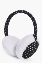 Boohoo Polka Dot Earmuffs Black