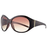 John Lewis Large Contrast Oval Sunglasses Tortoise Brown Gradient