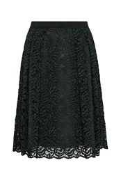 Hallhuber Lace Skirt With Grosgrain Waist Green