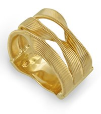 Marco Bicego Yellow Gold Marrakech 3 Strand Twisted Ring