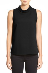 Women's Bobeau Sleeveless Mock Cowl Neck Top Black