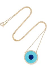 Jennifer Meyer Evil Eye 18 Karat Gold Multi Stone Necklace One Size