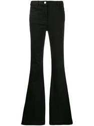 Pt05 High Waisted Flared Jeans Black