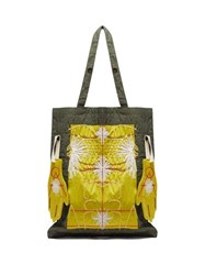 Craig Green Embroidered Puckered Canvas Tote Bag Yellow