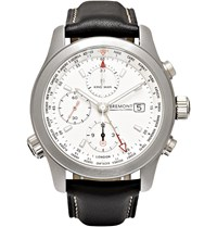Kingsman Bremont Alt1 Wt Wh World Timer Stainless Steel And Leather Automatic Chronograph Watch Silver