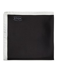 Eton Of Sweden Silk Pocket Square Black