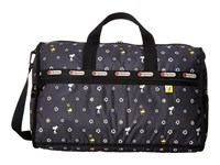 Lesportsac Luggage Large Weekender Snoopy Daisy Duffel Bags Black