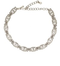 Kenneth Jay Lane Women's Deco Link Choker Silver