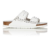 Birkenstock Women's Studded Arizona Double Buckle Sandals White