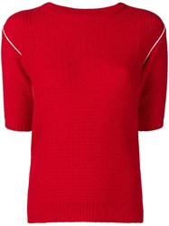 Marni Knitted Jumper Red