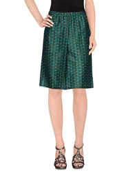 Laura Urbinati Skirts Knee Length Skirts Women Military Green