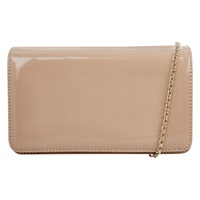 Hobbs Leather Eve Clutch Light Nude