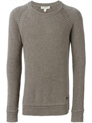 Burberry London Crew Neck Sweater Brown