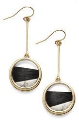 Women's Alexis Bittar 'Lucite Metal' Asymmetrical Drop Earrings