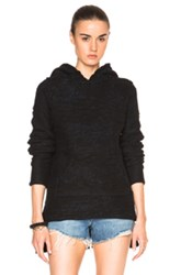 Baja East Hand Loom Cashmere Blend Sweater In Black