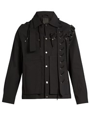 Craig Green Laced Seam Point Collar Cotton Jacket Black