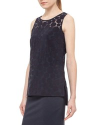 Akris Punto Dot Shell Tank Navy