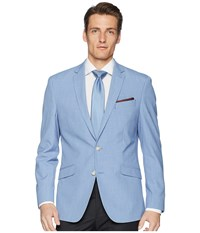 Kenneth Cole Reaction Chambray Sport Coat Blue Jacket