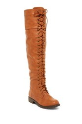Nature Breeze Lug Tall Lace Up Boot Brown