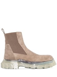 Rick Owens Beetle Ankle Boots Grey