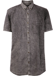 Zanerobe Acid Wash Shirt Grey