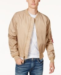 Ring Of Fire Men's Fly Weight Bomber Jacket Created For Macy's Nude