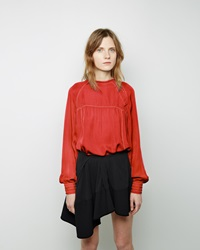 Isabel Marant Maly Georgette Top Orange