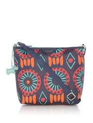 Radley Summer Tribe Small Ziptop Crossbody Bag Navy