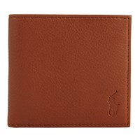 Polo Ralph Lauren Pebble Leather Bifold Wallet Tan