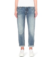 Levi's 501 Ct Slim Fit Mid Rise Jeans Darn And Dusted