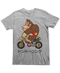 Fifth Sun Men's Donkey Kong Graphic Print T Shirt Athletic Heather