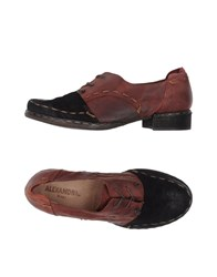 Alexandra Lace Up Shoes Maroon