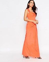 Vlabel London Peck Maxi Dress Peach Pink