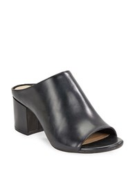 424 Fifth Hope Leather Mules Black