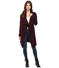 Bench Diction Long Cardigan Sassafras Marl Women's Sweater Burgundy