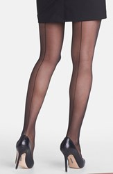 Plus Size Women's Nordstrom Back Seam Pantyhose Black