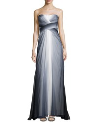 Monique Lhuillier Ombre Chiffon Strapless Gown Women's