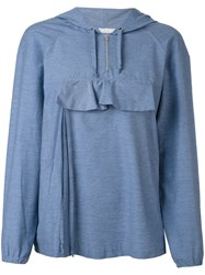 Peter Jensen Front Pocket Hoodie Women Cotton Polyamide S Blue