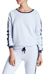 Alternative Apparel Long Sleeve Stripe Pullover Blue