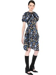J.W.Anderson Floral Printed Crepe De Chine Dress