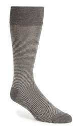 Men's Nordstrom Feeder Stripe Socks Grey