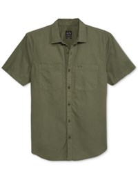 Armani Exchange Men's Short Sleeve Double Pocket Shirt New Green