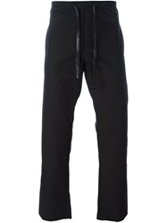 A Diciannoveventitre Drawstring Fastening Trousers Black