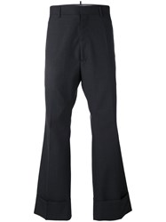 Dsquared2 Check Wool Pants Men Virgin Wool 48 Black