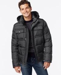 Tommy Hilfiger Hooded Puffer Jacket Dark Charcoal