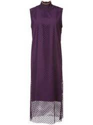 Kuho Mesh Shift Dress Pink And Purple
