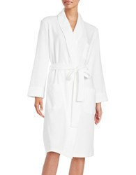Lord And Taylor Waffle Knit Robe White